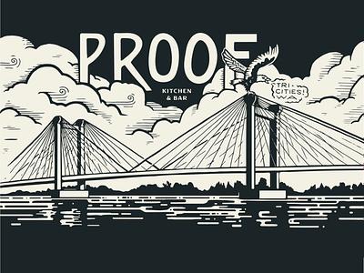 Cable Bridge brewery bar restaurant graphic design nature lettering mural design painting mural illustration