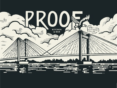 Cable Bridge brewery bar restaurant graphic design nature lettering mural design painting mural illustration