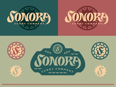 Ride on the Curry Train packaging color type typography lettering design branding badge logo