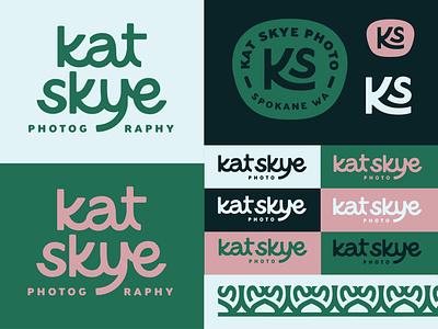 Kat Skye Photo Reject 1 design logo wordmark monogram photography pin patch badge lettering logo branding design branding color palette color typography type lettering