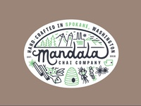 Mandala Chai Badges