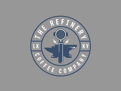 Refinery 2 circle lockup branding packaging patch badge logo coffee