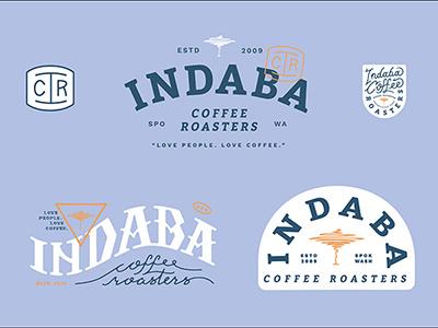 Indaba Drank coffee merch badge lettering branding brand logo