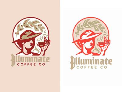 Illuminate design illustration lettering branding monogram logo