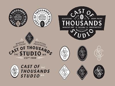 Cast Of Thousands monogram badge typography design branding