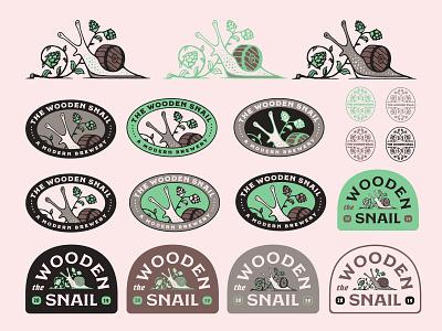 Shelly color brewing beer design logo patch badge branding illustration