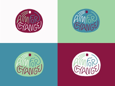 AFC 1 event branding event fundraiser badge logo color type lockup badge lettering