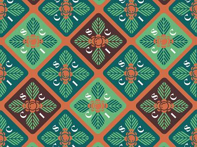 Coffee Schmoffee color illustration geometric plants coffee textile pattern art patterns