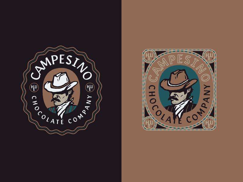 Campesinoooooooo detail patch chocolate packaging branding badge logo illustration