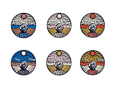 Farmy Boi printmaking block print merch patch coffee design badge logo illustration