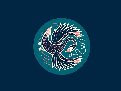 Goosin' Around design patch logo badge illustration