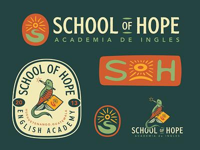 School of Hope color typography lettering badge logo illustration design