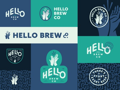 HBC Brand Exploration! packaging brewing beer lockups watermark patterns pattern color illustration typography design branding badge logo