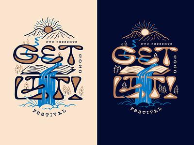 G-G-G-G-GET LIT! 2020 merch nature color typography type lettering event poster design illustration