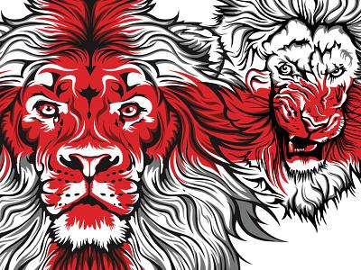 3 Lions T-Shirt design england vectors illustration st georges cross football shirt euro 2016 3 lions flag lions shirt t-shirt