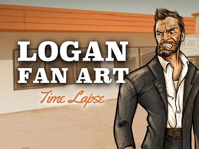 Logan Fan Art timelapse digital fan art wolverine logan