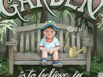 To Plant a Garden is to Believe in Tomorrow forest plants child boy globaltalentsearch2018 make-art-that-sells illustration book-cover garden