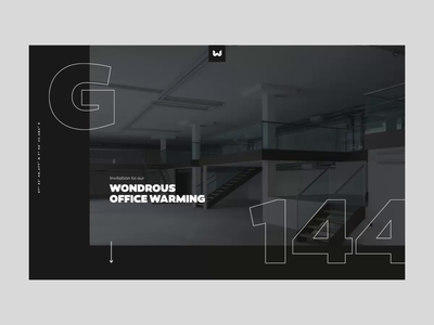Office Warming – Landing Page – Animation design direction concept party switzerland basel agency web design rsvp landing page animation motion
