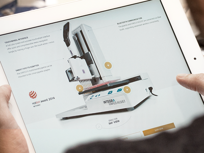 Interactive 360° Viewer product vision website biosciences bright 360° viewer red dot interactive clean