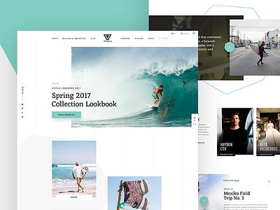VISSLA Redesign Concept – Homepage surf homepage parallax animation loader ui ux slider vissla concept redesign web design