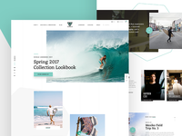 VISSLA Redesign Concept – Homepage