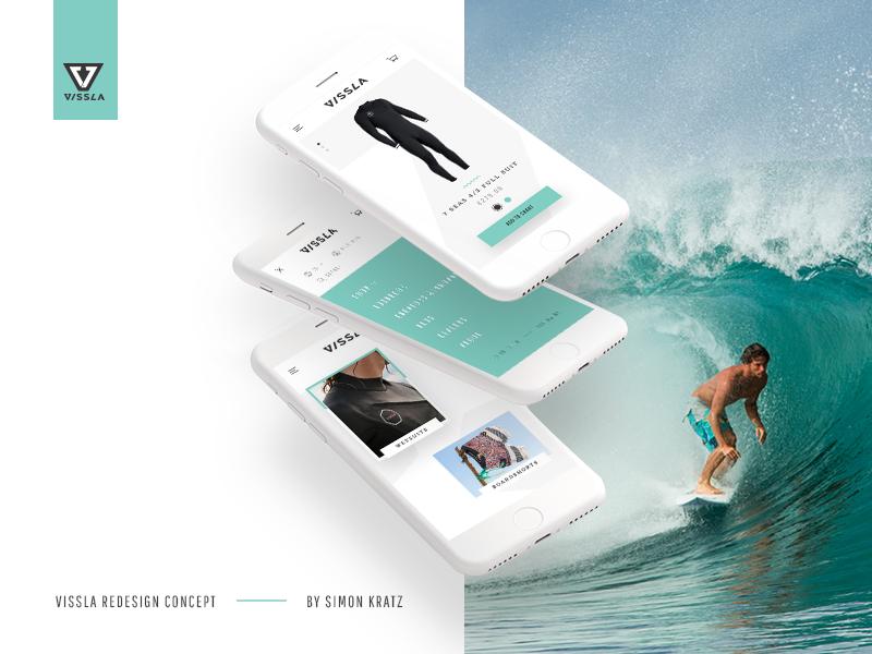 Vissla Redesign Concept – Behance Showcase shop mobile web design redesign concept vissla slider animation ecommerce surf ui ux