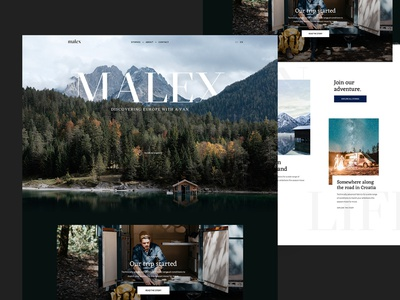 Travel Blog - malex malex expedition blog roadtrip vanlife outdoor travel concept web design