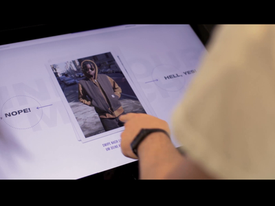 Carhartt WIP – Interactive Table – Reel – Sneak Peek carhartt carhartt wip interactive table shopping experience digital transformation diploma thesis interaction design future touch interactive prototype ux concept motion animation work in progress