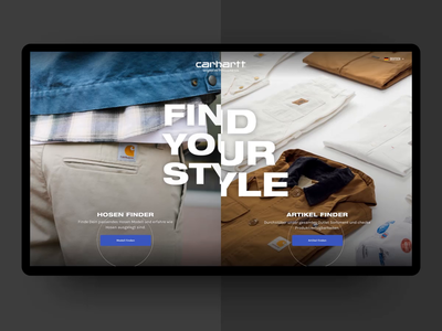 Carhartt WIP – Interactive Table – Pant Finder