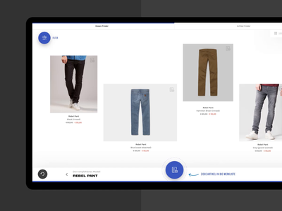 Carhartt WIP – Interactive Table – Filter and Wishlist filter wishlist work in progress animation motion concept ux interactive prototype touch future design interaction transformation digital experience shopping table interactive carhartt wip carhartt