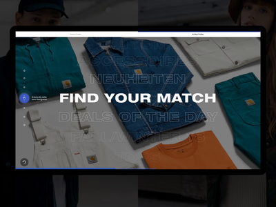Carhartt WIP – Interactive Table – Menu Interaction drag navigation menu carhartt interactive table shopping experience digital transformation interaction design future touch ux concept motion animation work in progress filter