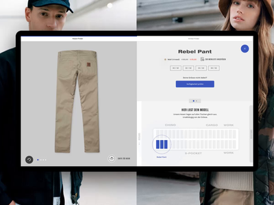 Carhartt WIP – Interactive Table – Availability Check web availability connection work in progress animation motion concept ux touch future design interaction transformation digital experience shopping table interactive carhartt drag