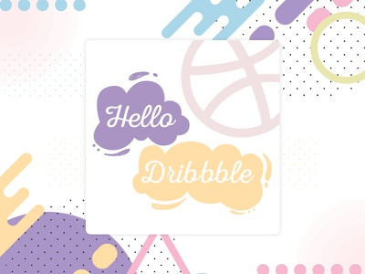 Hello Dribbble graphics hello dribble