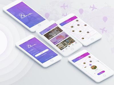 Travel App splash sign up login travel app ui ux design