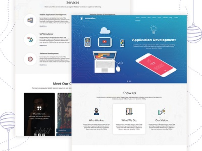 Innovation web design inspiration concept design layout web templates business