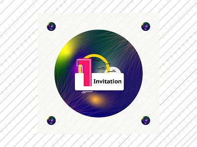 Invitation design dribble illustration graphic  design new designer first shot invitaion draft
