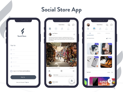 Social Store App share comments cheers feeds shopping app social app appdesign uxdesign uidesign inspiration design layout ui design app design dribble concept business