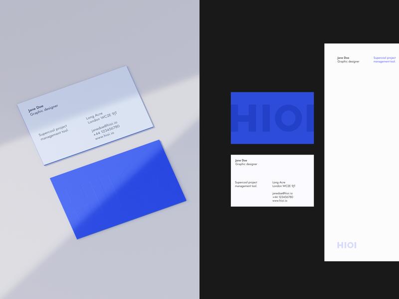 Hioi branding identity 3d logo business card visual identity branding