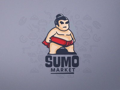 Summo Market market summo asian brand ui character design logo design mascot illustration branding