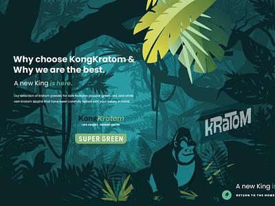 Kong Kratom brand illustrations pacaking design character design logo visual identity branding illustration cbd kratom