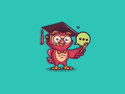 Brainee genious brand branding logodesign mobileapp app characterdesign mascotdesign mascot owldesign owlart owl