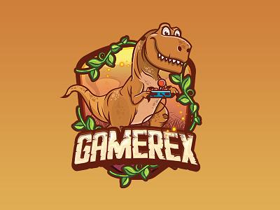 Trex jungle chrome google branding logo character mascot gaming gamer tyrannosaurus trex dinosaur
