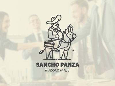 Sancho Panza sancho panza funny donkey design consulting branding logo
