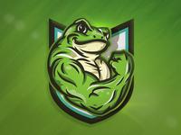 Flexing Frog