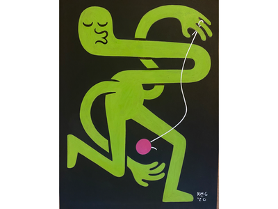 YoYo lowbrowart lowbrow streetart art paint painting characterdesign character illustrator illustrate illustration