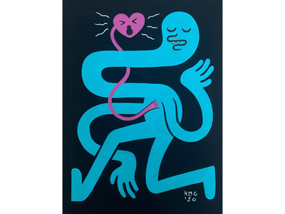 Scream Inside Your Heart streetart lowbrow characterdesign character marker ink painting paint illustrate illustration
