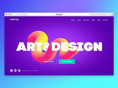 site concept gradient design web design site landing page