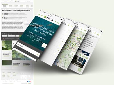 Insurance company Tilia - UI design
