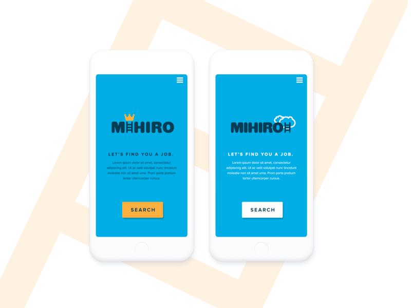 MIhirio - Brand & UI design concept concept logo ui brand
