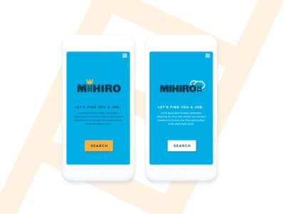 MIhirio - Brand & UI design concept
